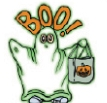 Custom Ghost Glow-In-The-Dark Stock Temporary Tattoo