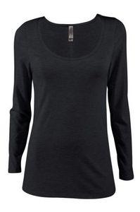 Platinum Ladies Triblend Long Sleeve Scoop Neck Tee Shirt