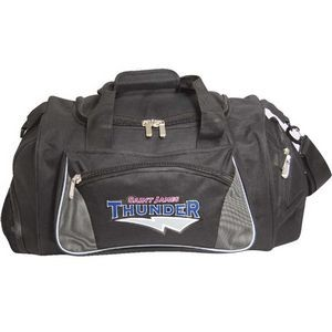 Gym Travel Bag w/Ball Holder and Wet/Shoe Pocket