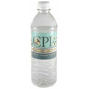 16.9 Oz. Custom Labeled Bottled Water w/Flat Cap