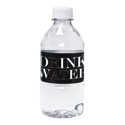 12 Oz. Custom Labeled Bottled Water w/ Flat Cap