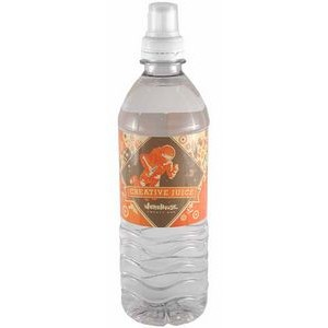 16.9 Oz. Custom Labeled Bottled Spring Water w/Sport Cap