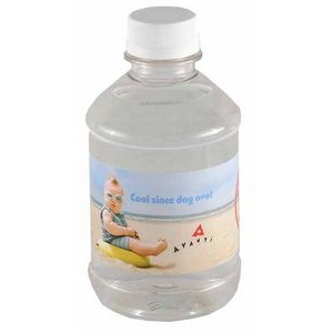 8 Oz. Custom Labeled Bottled Water w/Flat Cap