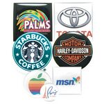 Custom Square/ Circle/ Oval 1 to 2 Square Inch Domed Labels