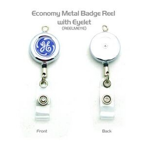 Metal Badge Reel w/Top Eye Loop