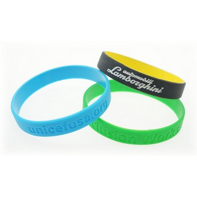 Recycled Silicone Wristband w/Debossed Logo