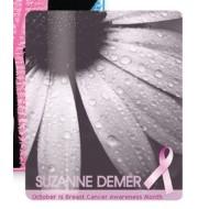 "Breast Cancer Awareness 2.5""x3.5"" Laminated Card Stock Lanyard Card"