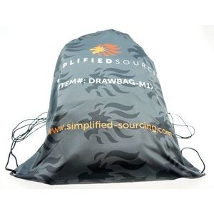 Light Weight Microfiber Drawstring Backpack
