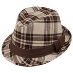 Custom Brushed Plaid Fedora Hat