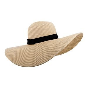 Ladies' Toyo Braid Sun Hat- Grosgrain Ribbon