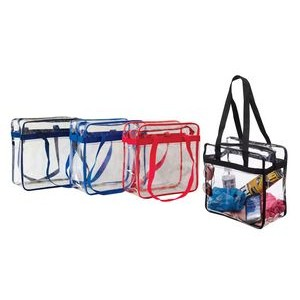 Clear Stadium/Tournament Zipper Tote Bag