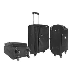 Expandable Carry-On Luggage w/ 360 Swivel Wheels