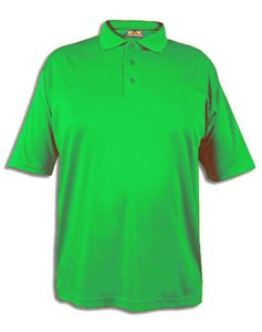 Men s short sleeve performance polo shirt safety lime for Mens lime green polo shirt