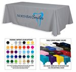 Custom 8' Premium 2-Color Thermal Transfer Table Cover