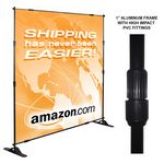 Custom Econo Adjustable Stand w/ 8'x10' Soft Knit Poly Banner