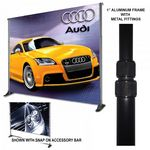 Custom Premium 8'x12' Adjustable Stand, Convert Kit, & Banner