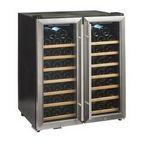 Custom Wine Enthusiast 48 Bottle Double Door Dual Zone Wine Fridge