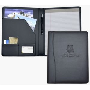 Letter Size Writing Pad Folder/Padfolio, Black soft Simulated Leather