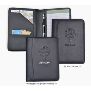Jr. Size Writing Pad Folder/Padfolio, Black soft simulated leather