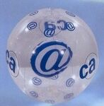 Custom Inflatable Beachball / Clear/ Blue @ Insert / 16