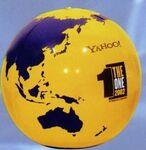 Custom Inflatable Globe Ball - Yellow/ Purple /20