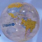 Custom Inflatable Globe Ball - Clear / 16