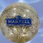 Custom Clear Ball With Gold & Silver Glitter Inside / 16