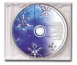 Custom CD-6 Christmas Music Snowflake Greeting Card