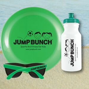 Beach Kit 20 Green - Bottle 20 oz, Flyer & Sunglasses Kit