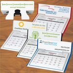 Custom Desk Calendar, month per page with pop-up stand.