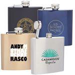 Custom FLASK 6 - 6 oz Single Wall hip flask
