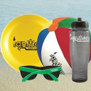 Beach Kit 4 - Bottle Flyer Beach Ball Sunglasses Kit