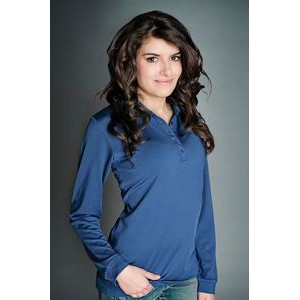 Ladies Liberty Long Sleeve Polo Shirt