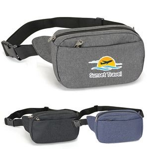 Heathered Two Pocket Fanny Pack