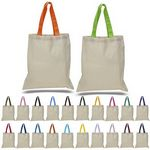 Custom 6oz Canvas Tote with Colors Handles