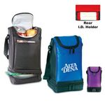 Custom Deluxe Dual Compartment Lunch Sack W/ ID Holder