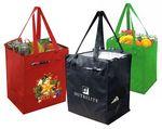 Custom Eco Insulated Grocery Tote w/ Side Pockets