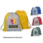 Custom Reversible Two Tone Drawstring Backpack