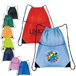 Custom Nylon Zippered Drawstring Backpack