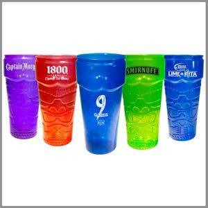 26 Oz. Plastic Stackable Tiki Cup - Custom Imprint
