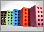 Custom 20 Hole Foam Shooter Rack - Holds 6
