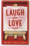 Custom Love Much Mini Artwork and Beechwood Easel Display