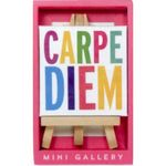 Custom Carpe Diem Mini Gallery Artwork and Beechwood Easels Display