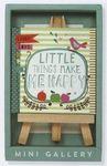 Custom Little Things Make Me Happy Mini Artwork and Beechwood Easel Display