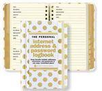 Custom Gold Dots Personal Internet Address & Password Logbook