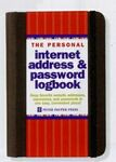 Custom Personal Internet Address & Password Logbook (Black)