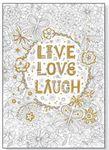 Custom Studio Series Gold Foil Coloring Posters - Live Love Laugh