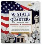 Custom 50 State Commemorative Quarters Collector's Map