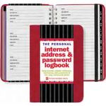 Custom Personal Internet Address & Password Logbook (Red)