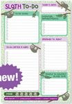 Custom Sloth-To-Do Daily to-Do Note Pads